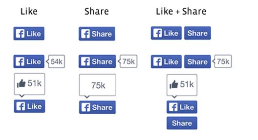 facebook New buttons