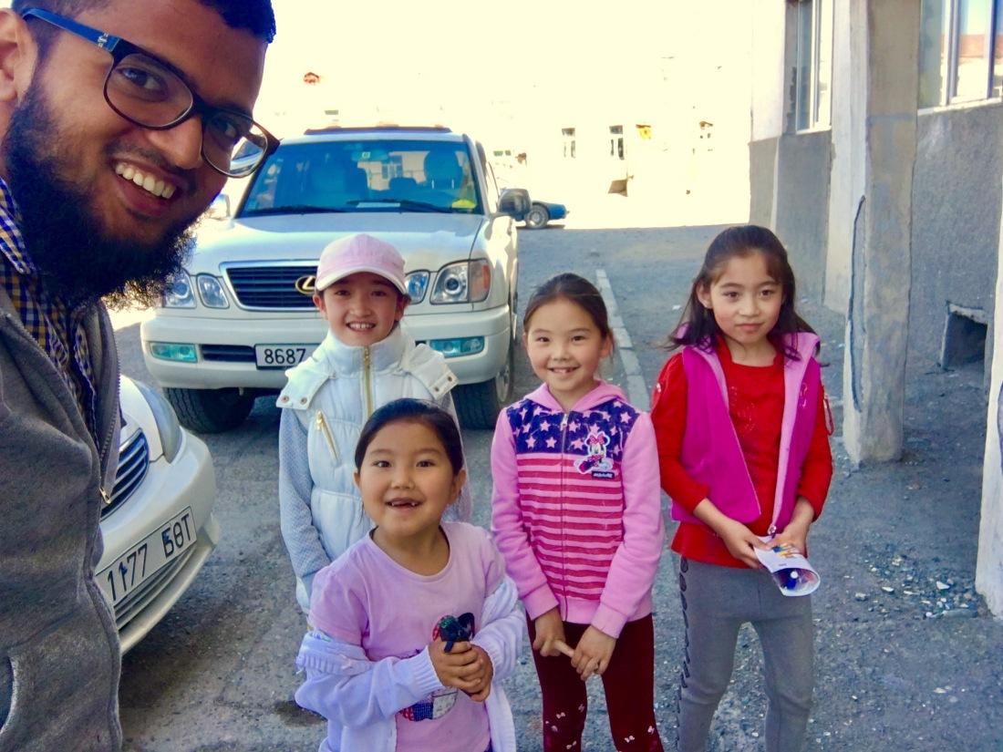 Kazakh kids at Bayan olgii Mongolia